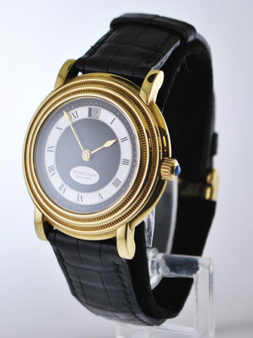 Parmigiani Fleurier Men's Automatic Wristwatch #4608 Skeleton Back 18 Karat Yellow Gold on Leather Strap - $40K VALUE