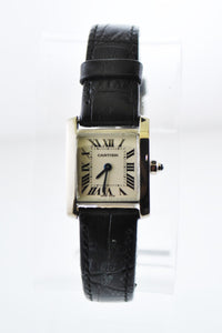 CARITER Tank Francaise #2403 Rectangle 18K White Gold Wristwatch - $10K VALUE