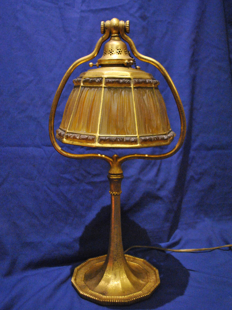 1938 Vintage Tiffany Studios Fabrique Lamp Favrile Glass and Bronze Signed Dated - $30K VALUE