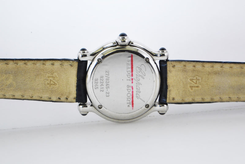 CHOPARD Happy Sport Lady's Wristwatch in Stainless Steel with Floating Diamond Moon & Star - $20K VALUE