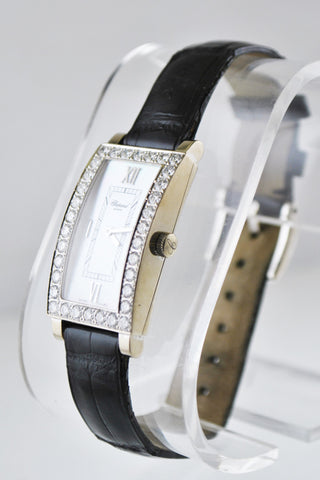 Chopard Ladies Rectangle Wristwatch with Diamond Bezel in 18 Karat White Gold - $50K VALUE