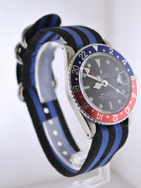 1980's Rolex GMT-Master Vintage Wristwatch Pepsi in Stainless Steel Water Resistant - $20K VALUE