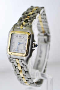 Cartier Mini Panthere #1057917 Two-Tone Small Square Wristwatch Quartz in Yellow Gold and Stainless Steel - $10K VALUE