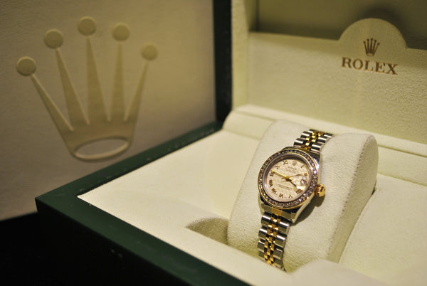 Rolex Oyster Perpetual Datejust Ladies Wristwatch Diamond Bezel Two-tone in 18 Karat Yellow Gold & Stainless Steel - $20K VALUE