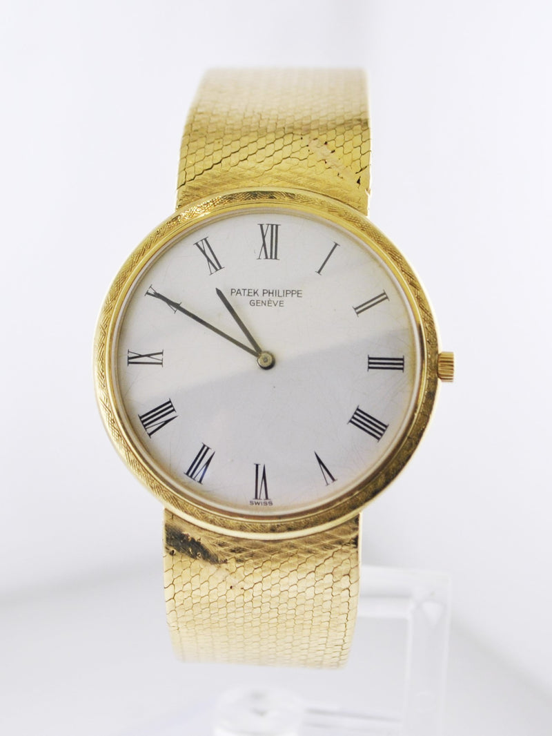 Patek Philippe Extra Slim Men's Wristwatch w/ Original Band in 18 Karat Yellow Gold - $40K VALUE
