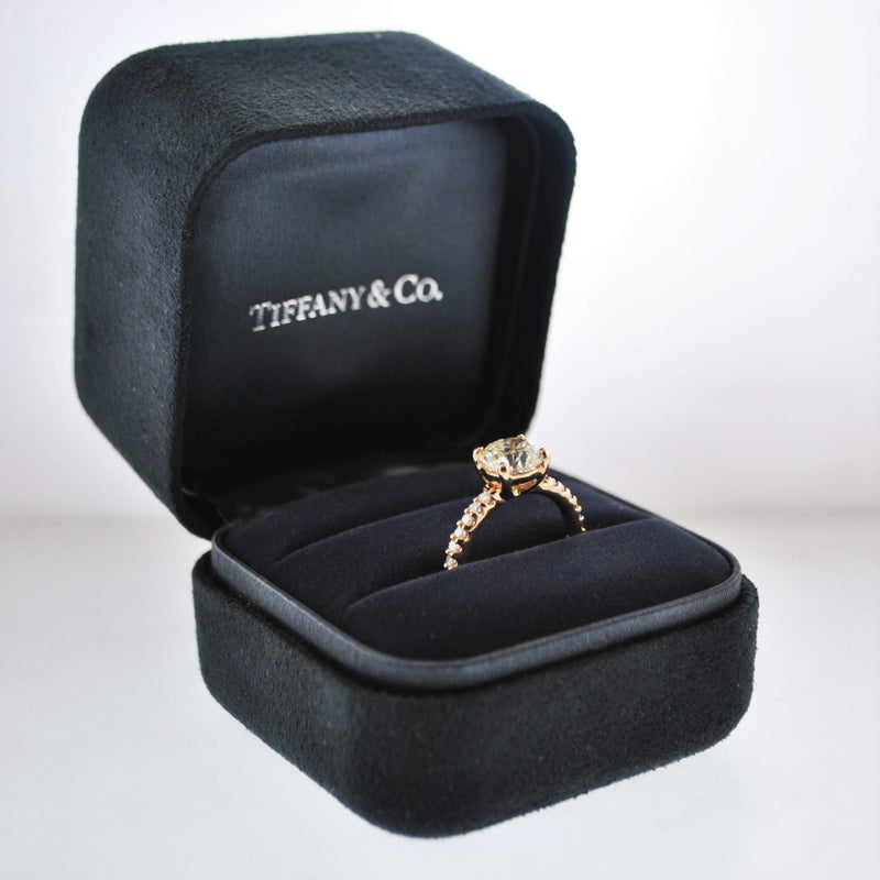 Custom Made Diamond Engagement Ring UGL Cert. Appr. 2.85 TCW in 18 Karat Rose Gold - $56K VALUE