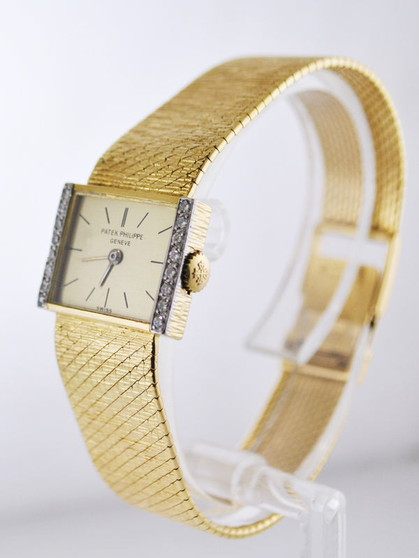 Vintage Patek Philippe Diamond Lady's Wristwatch w/ Original Bracelet in 18 Karat Yellow Gold - $50K VALUE