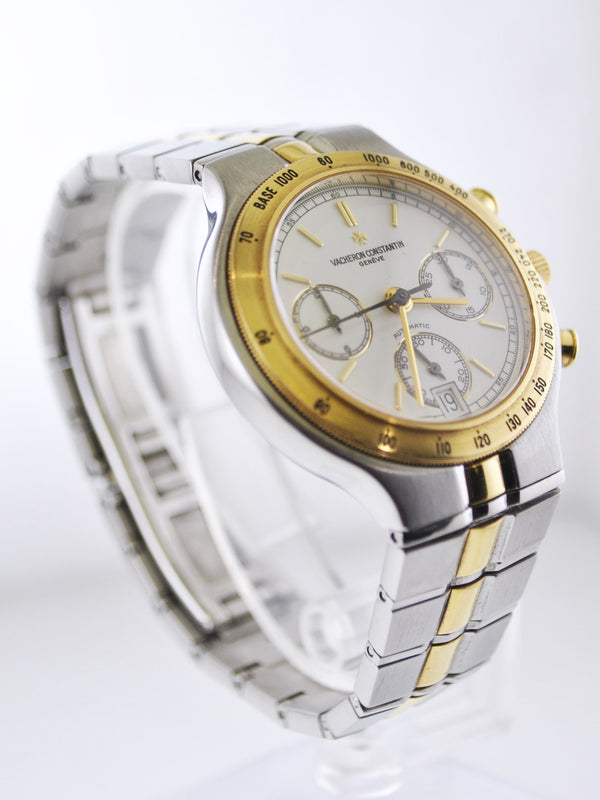 1990's Vacheron Constantin 49001 Phidias Chronograph in Stainless Steel & 18 K Yellow Gold Wristwatch - $35K VALUE