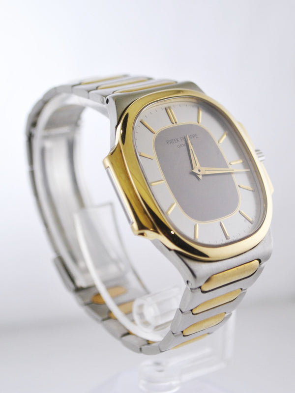PATEK PHILIPPE Nautilus Two-Tone Yellow Gold & Stainless Steel Men's Wristwatch - $30K Appraisal Value! ✓