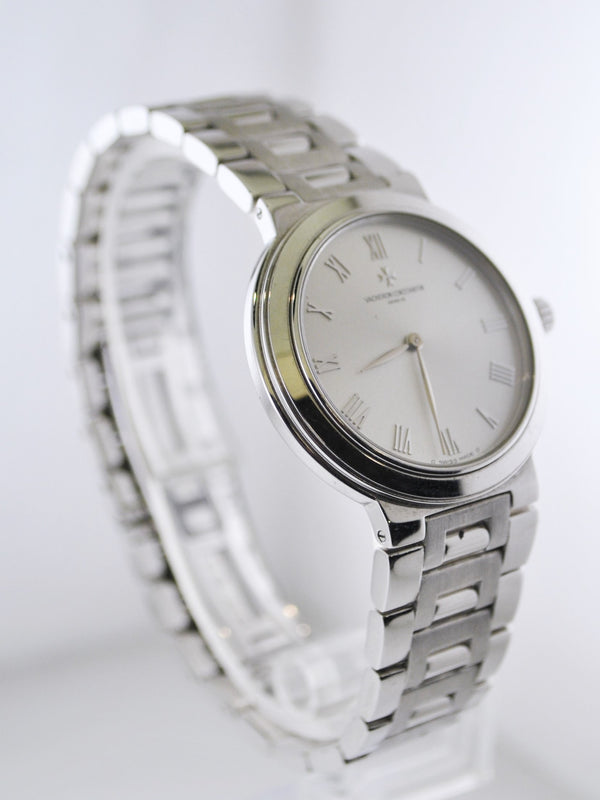 Vacheron Constantin Men's Classic Wristwatch on 18 Karat White Gold Oyster Band - $30K VALUE