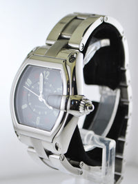 CARTIER Roadster #2510 Stainless Steel Automatic Cushion Wristwatch w/ Black Dial - $8K VALUE