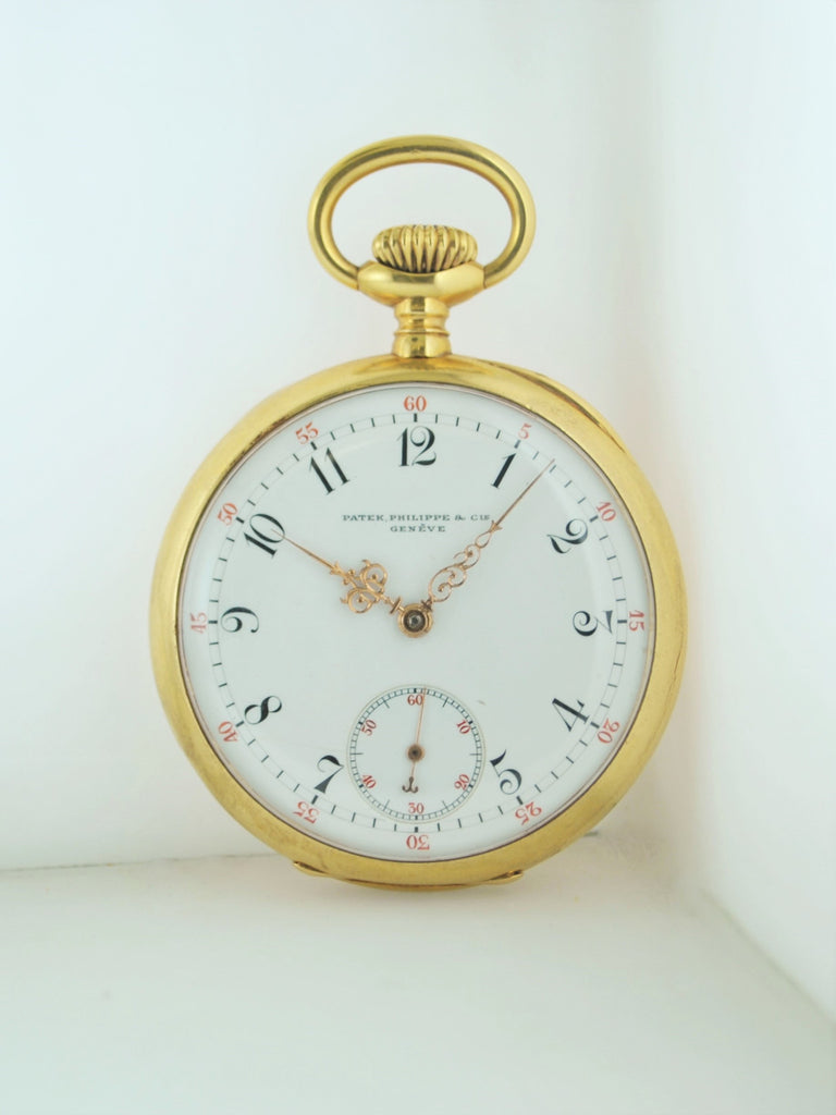 1891 Patek Philippe Pocket Watch Antique Engraved 18K Yellow Gold - $15K VALUE