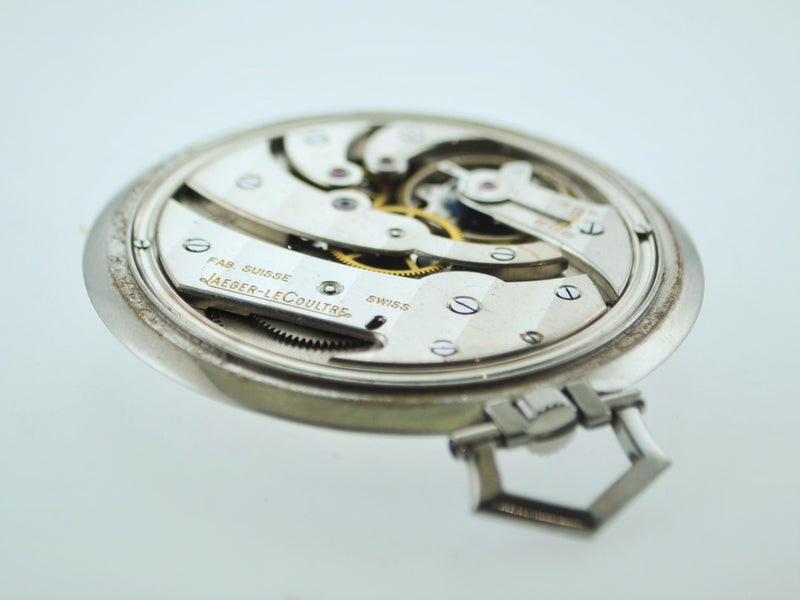 JAEGER LECOULTRE Rare 20th Century Staybrite Steel Pocket Watch - $15K VALUE