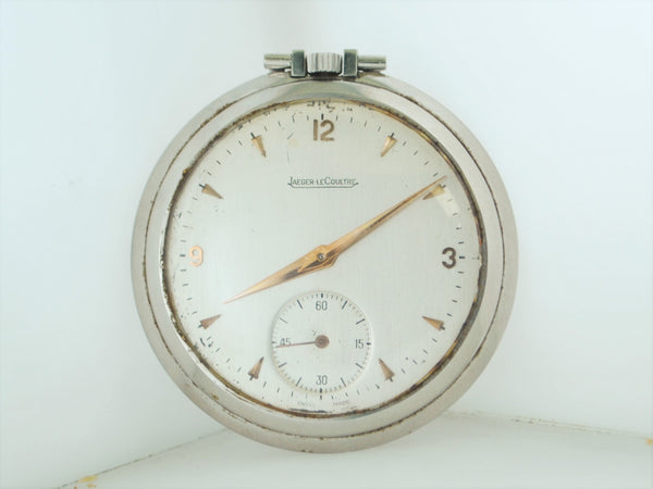 20th Century Jaeger-LeCoultre Pocket Watch Staybrite Steel Vintage $15K VALUE