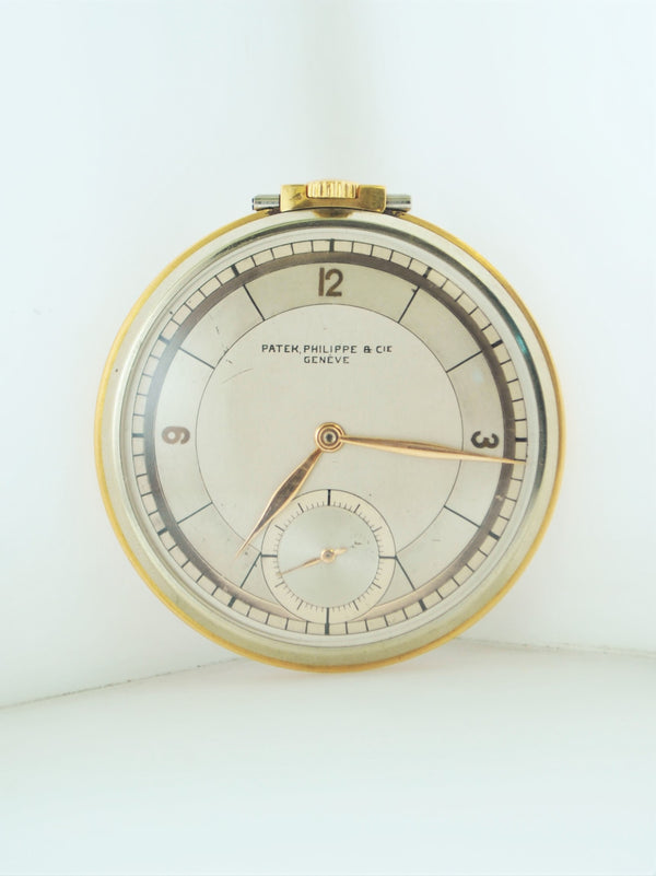 1930s Patek Philippe & Cia Pocket Watch 18J Rare Two Tone 18K Gold $30K VALUE