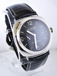 PANERAI Radiomir Black Seal Automatic Wristwatch Skeleton Back Firenze 1860 LTD ED in Stainless Steel - $13K Value