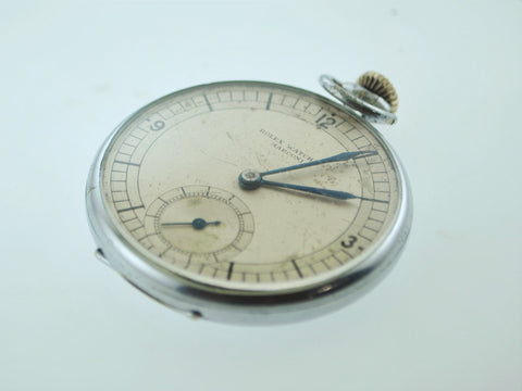 1920's Rare Rolex Marconi Pocket Watch Stainless Steel 15J Engraved - $15K VALUE