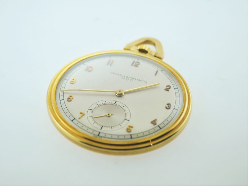 VACHERON CONSTANTIN Rare 1950s 18K Yellow Gold Pocket Watch - $30K VALUE, w/Cert!