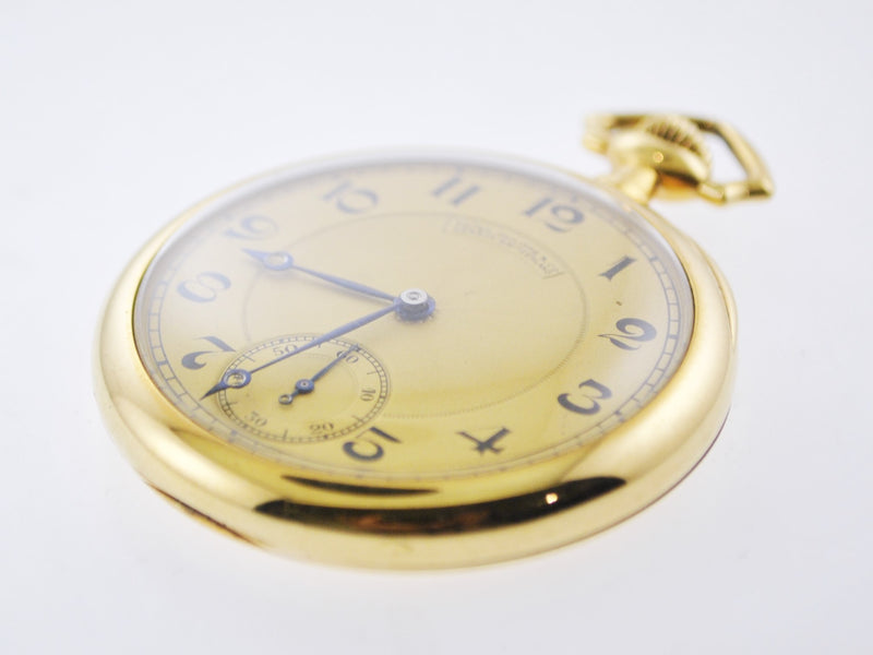 1920's Patek Philippe Pocket Watch w/ Sub-dial Engraved 18 Karat YG Antique - $35K VALUE, w/Cert!
