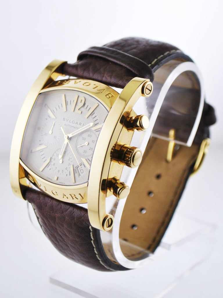 Bvlgari Assioma Automatic Wristwatch Square Jumbo Case Chronograph in 18 Karat Yellow Gold - $20K VALUE