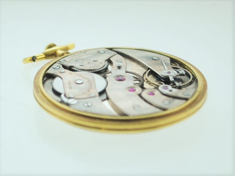 1930's Audemars Piguet Pocket Watch Ultra Thin 19J Platinum 18K YG $20K VALUE
