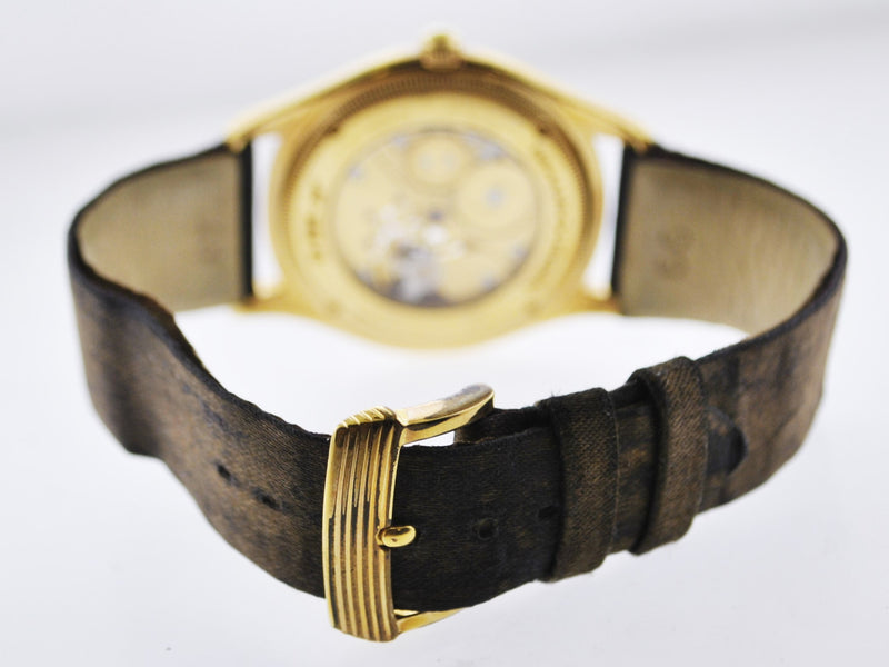MAUBOUSSEN Vinatage 18K Yellow Gold Mechanical Wristwatch w/ Special Skeleton Dial - $20K VALUE