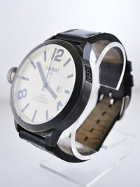 U-BOAT Rare Jumbo IFO Jumbo Sterling Silver Wristwatch w/ Left-Sided Crown - $10K VALUE