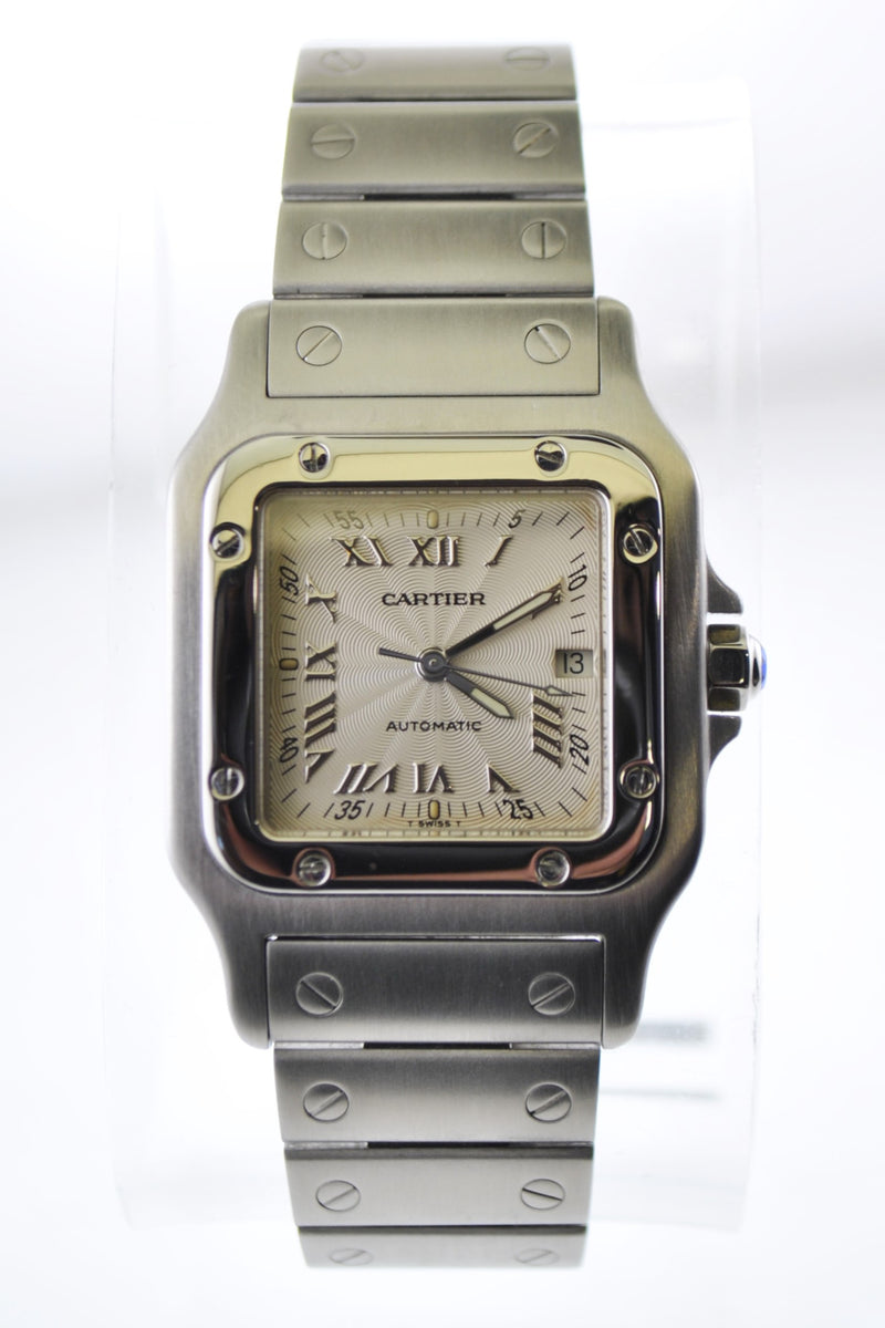 Cartier Santos Square Automatic Wristwatch Water Resistant in Stainless Steel - $10K VALUE