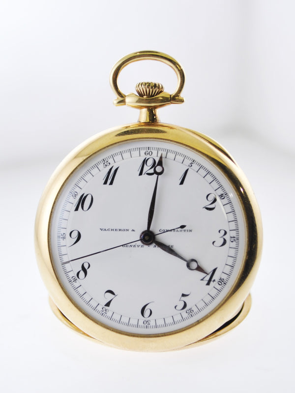1940's Vacheron Constantin Pocket Watch Ultra Thin Double Case in Yellow Gold 19J - $10K VALUE