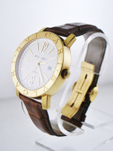 Bvlgari Bulgari Automatic Wristwatch Round Jumbo Case in 18 Karat Yellow Gold - $30K VALUE