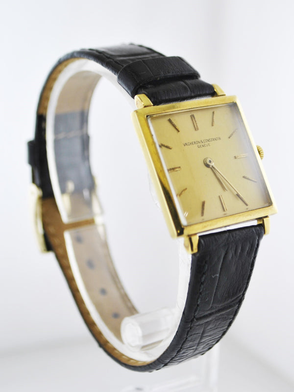1950's Vacheron Constantin Square Ultra Thin Wristwatch in 18 Karat Yellow Gold - $30K VALUE