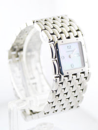 Cartier Ruban 2420 Square Wristwatch Pearl Dial Water Resistant Band in Stainless Steel - $10K VALUE