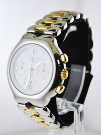 TIFFANY & CO. Tesoro #M0322 Two-Tone 18K Yellow Gold & Stainless Steel Chronograph - $15K Appraisal Value! ✓