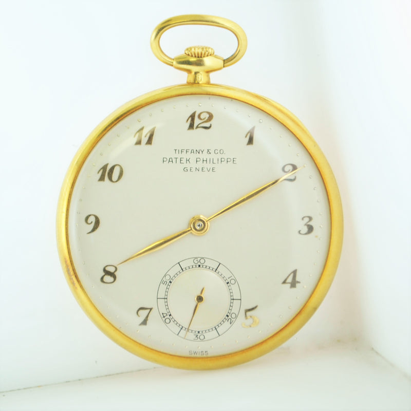 1940s Patek Philippe for Tiffany & Co. Elegant Ultra Thin Pocket Watch in 18K Gold  - $25K VALUE