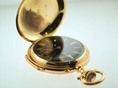 1880s J.A. Jaccard & Cie Engraved Pocket Watch Echappement Ancre Ligne Droite 20J - $20K VALUE