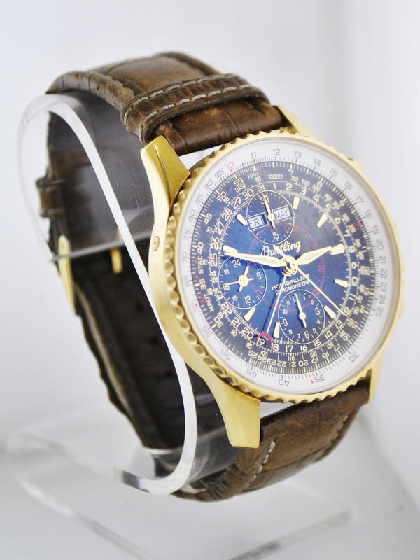 BREITLING Limited Edition Datora Montbrilliant 18KYG Chronometre w/ Annual Calendar - $50K VALUE