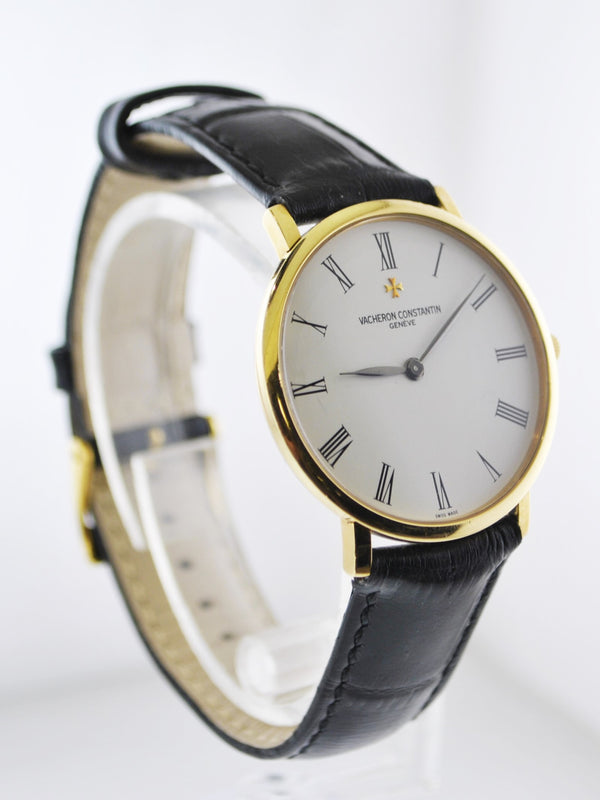 1970's Vacheron Constantin Round Ultra Thin Wristwatch in 18 Karat Yellow Gold - $35K VALUE