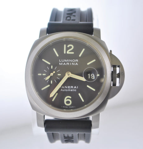 Panerai Luminor Marina Automatic watch in Titanium case with a Rare Chocolate Dial, Subdial,Date feature,Water Resistant-$15K Value