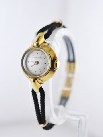 1950's Patek Philippe Very Rare Women's Wristwatch in 18 Karat Yellow Gold on Original Textile Rope - $15K VALUE