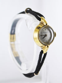 PATEK PHILIPPE Vintage 1950's Very Rare Women's Wristwatch in 18 Karat Yellow Gold on Original Textile Rope - $15K VALUE