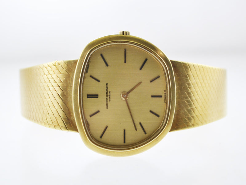 VACHERON CONSTANTIN Vintage 1940's Ultra Thin 18K Yellow Gold Asymmetrical Wristwatch on Original Strap - $30K VALUE
