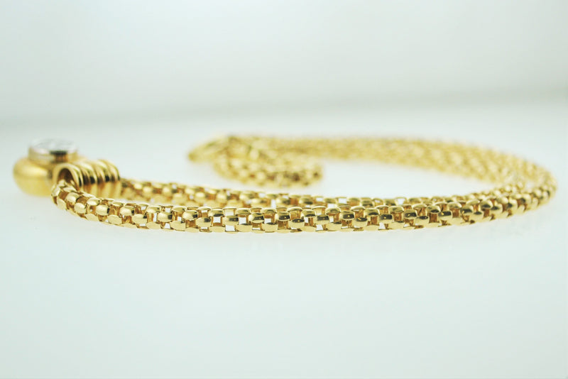 Contemporary Q'uortia Yellow Gold Pendant Necklace with 1.25 Carats in Diamonds - $20K VALUE