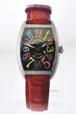 Franck Muller Color Dreams Master of Complications #291 7502 QZ D Diamond Wristwatch in 18 Karat White Gold - $40K VALUE