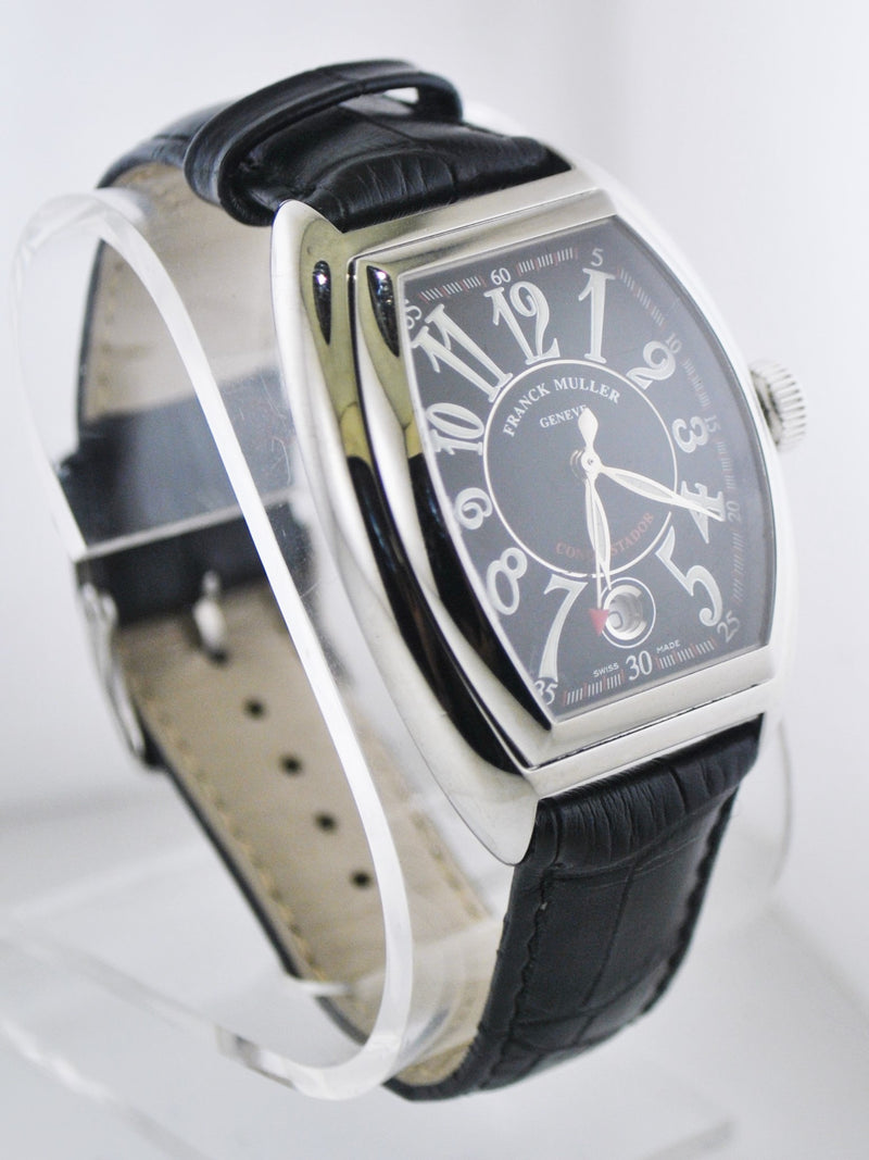 FRANCK MULLER Conquistador Master of Complication #096 Jumbo Wristwatch Tonneau Case in Stainless Steel - $15K VALUE