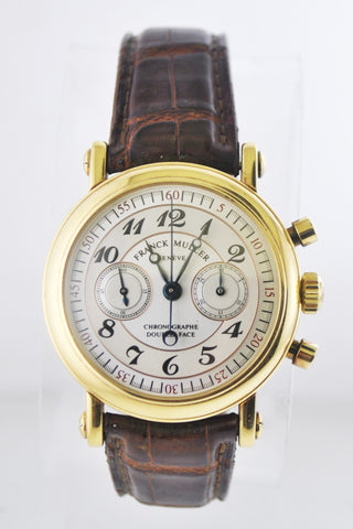 Franck Muller Double Face Chronograph Tachometer Back in 18 Karat Yellow Gold - $50K VALUE