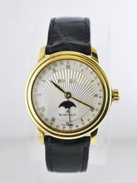 Blancpain Wristwatch Round Flip Case Skeleton Back w/ Moonphase Day-Date in 18 Karat Yellow Gold - $80K VALUE