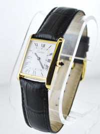 Cartier Tank Mechanic Small Wristwatch Rectangle in 18K Yellow Gold Electroplated - $8K VALUE