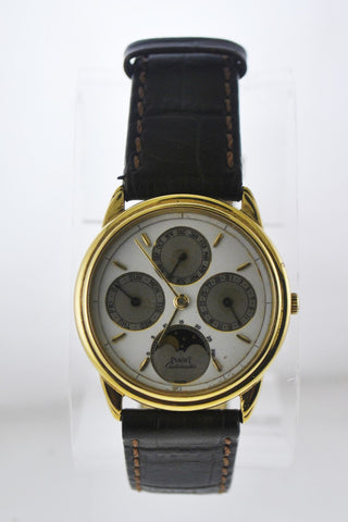 Piaget Automatic Wristwatch Round w/ Moonphase Day-Date-Month in 18 Karat Yellow Gold - $40K VALUE