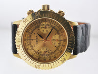 Gruen Watch SA Aquarius Chronograph Men's Automatic Wristwatch LTD ED in 18K Yellow Gold -  $25K VALUE