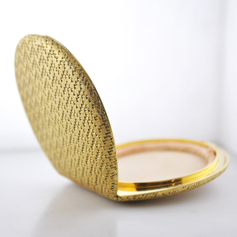 Vintage Designer Collectible Compact Case in 18K Yellow Gold with Diamonds - $10K VALUE